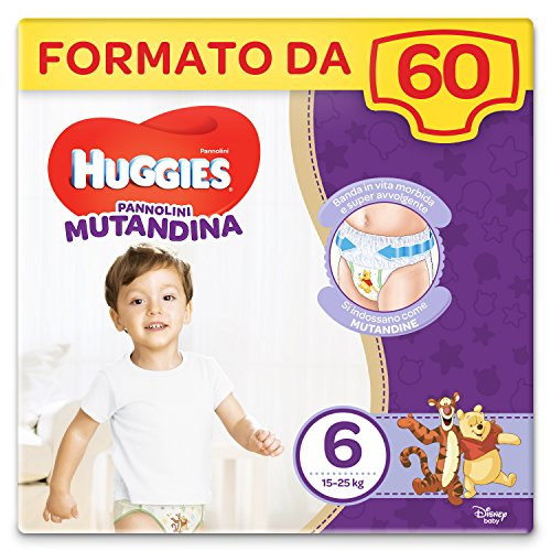 Huggies Pannolino Mutandina,  Taglia 6 (15-25 Kg),  Confezione da 60 Pannolini (2 x 30)
