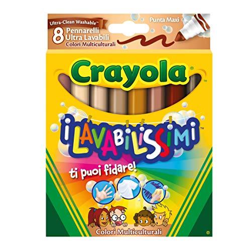 Crayola 58-8336 – I wasmiddel met 8 viltstiften, maxi-punt, meerkleurig – model/kleuren gesorteerd, 1 stuk