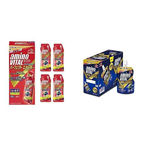 【セット買い】 味の素 アミノバイタル アミノショット パーフェクトエネルギー グレープフルーツ味 45g×4袋 & 味の素 アミノバイタル ゼリードリンク SUPER SPORTS 100g×6個