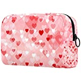 Kosmetiktasche in Herzform, Kulturbeutel für Damen, Hautpflege, Kosmetik, Handtasche mit Reißverschluss