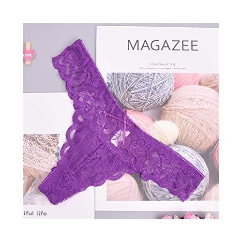 Linyuex Frauen Spitze bequem und atmungsaktiv Zapfen G-Schnur Unterwäsche-Schlüpfer Slips for Damen T-Back (Color : 87169zi, Size : X-Large)