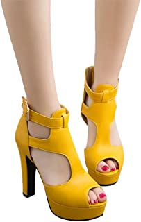 261e9cd655c Mostrin Fashion Women Platform Pumps Sexy Ladies Peep Toe Ankle Strap High  Heel Gladiator Sandals