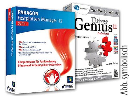 PARAGON Festplatten Manager 12 Suite + Driver Genius 11 Pro