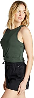 Rockwear Activewear Women's Oasis Twist Knot Crop Khaki 6 from Size 4-18 for Singlets Tops