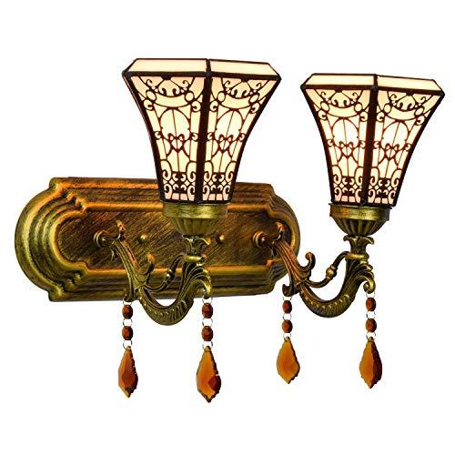 DALUXE Luz de Pared Tiffany en Estilo árabe, Arte Sencillo Dormitorio Noche Doble Cristal lámpara de Pared Moderna Barra de Barra Doble Cabeza lámpara de Cristal