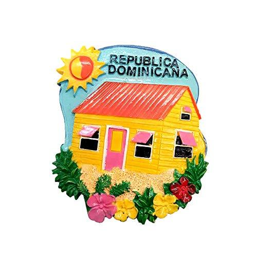 Imán de nevera 3D de la República Dominicana para regalo, colección de regalo, decoración para el hogar y la cocina