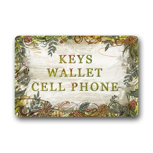 KLing Fußmatte mit Klingschlüsseln, Geldbörse, Handy, lustige Zitate, Vliesstoff, für Innen- und Außenbereich, 16 x 24, 40 x 60 cm
