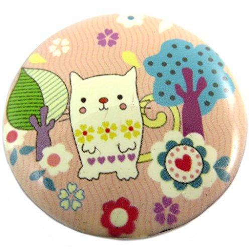 Les Trésors De Lily [P7416 - Broche créateur 'Lilipoupettes' (Chat) Rose Multicolore - 40 mm
