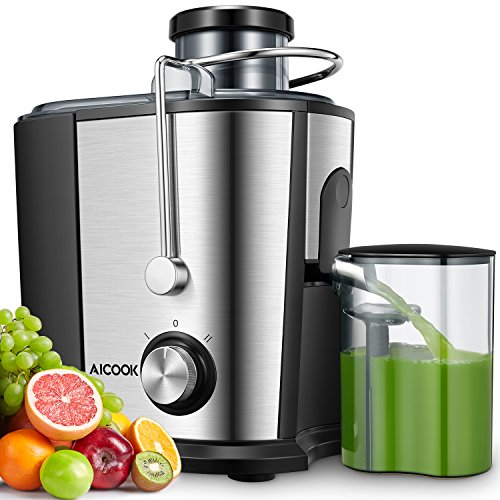 Juicer Machines, AICOOK 600W Whole Fruit and Vegetable Juicer, 75MM Wide...