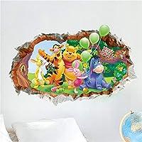 MASDF くまのプーさんウォールステッカー保育園キッズ子供赤ちゃん寝室pvc 3d効果壁アートデカール装飾 MASDF (Color : 1485)
