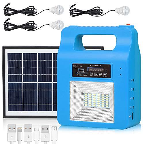 Portable Solar Generator Lighting Kit - 12000mAh Solar...