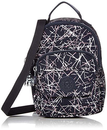 Kipling womens Alber 3-In-1 Convertible Mini Backpack, Navy stick Print, covid 19 (Kipling Print Backpack coronavirus)