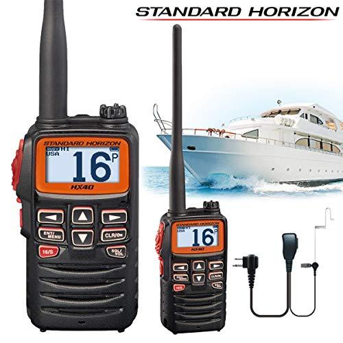 Standard Horizon HX380 5W Submersible IPX-7 Handheld VHF Radio w//LMR Channels