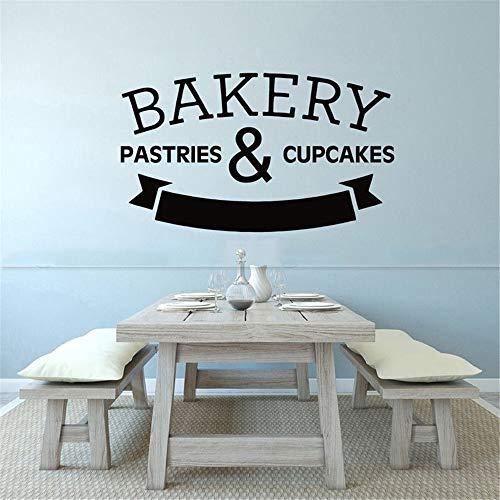wandaufkleber 3d Wandtattoo Kinderzimmer Küchenfenster Wanddekoration Bäckerei Gebäck Cupcake Brot Koch Art Decor Decals für die Küche