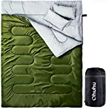 Double Sleeping Bag, Ohuhu 2 Person Sleeping Bags with 2 Pillows for Adults,...