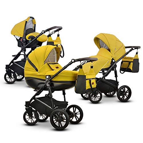 Friedrich Hugo Savior | 3-in-1 combi kinderwagen Gel mosterd