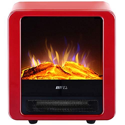 L-SLWI 1800 W staande elektrische open haard met regelbare temperatuur verwarming (rood)