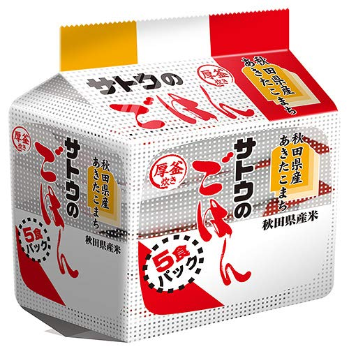 サトウ食品 サトウのごはん 秋田県産あきたこまち 5食パック 200g×5食×8個入×(2ケース)
