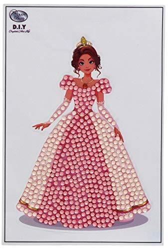 Craft Buddy Brand Name Crystal Art Rosa Prinzessin, 10x15cm Kristallkunst-Motiv