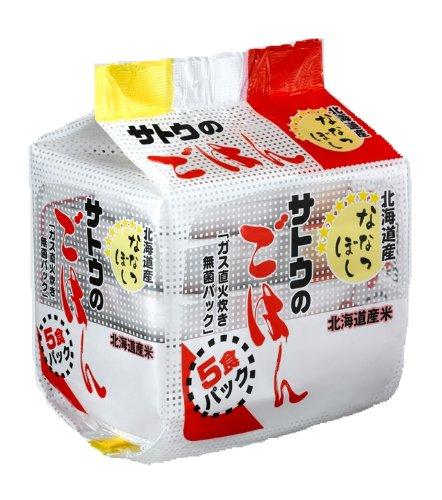 サトウのごはん 北海道産ななつぼし 200g×5個