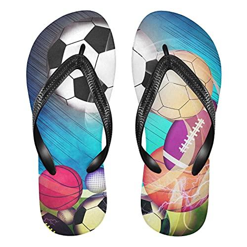 Linomo Chanclas de dedo para hombre y mujer, chanclas de verano, sandalias informales, sandalias para la playa, color Multicolor, talla 39/40 EU