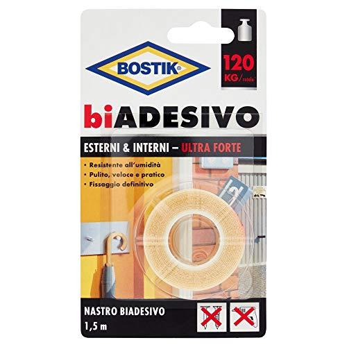 Bostik biADESIVO esterni & interni 19mm x 1.5mt, traslucido