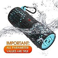 【ALTOPARLANTI IMPERMEABILI IP67 E NUOTO】 Il nostro altoparlante bluetooth è certificato IPX7, quindi l'altoparlante bluetooth impermeabile può essere completamente immerso in acqua ad una profondità di 1 metro per 30 minuti. L'altoparlante può evitar...