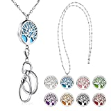 SAM & LORI Strong Lanyard Necklace Stainless Steel Beaded Chain Necklace Silver for ID Bad...