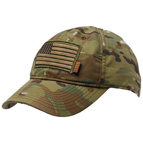 Gadsden and Culpeper 5.11 Flag Bearer Cap Bundle Multicam (USA Patch + Hat)