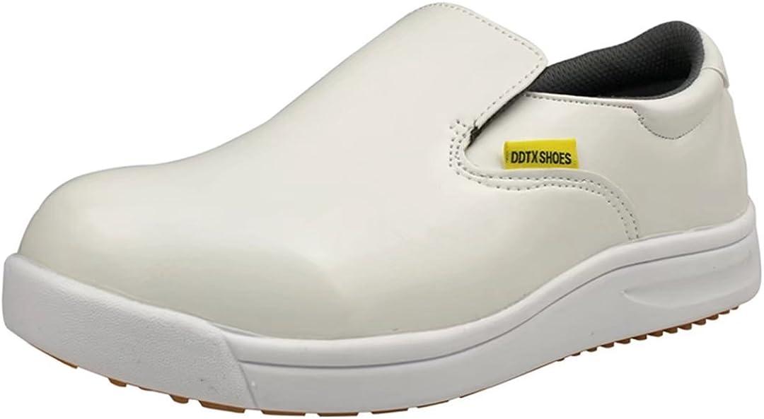 DDTX Luxury goods Slip Oil Resistant Slip-on Mens discount Work Black White Shoes