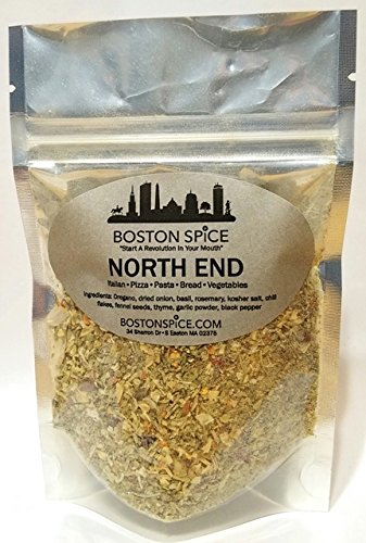 Boston Spice North End Gourmet Italian Herb Seasoning Blend for Pizza Pasta Sauce Vegetables Bread Dipping Oils Popcorn Dip Spreads Salad Dressing (Approx. 1/2 Cup of Spice)