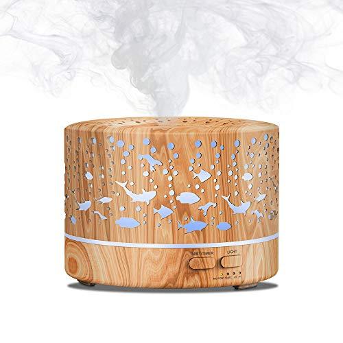 MEIDI Duftspender für ätherisches Öl, Aromatherapie, Luftbefeuchter mit frischem Nebel, Ultraschall-Aroma, hohe Kapazität, 700 ml, mit einstellbarem Nebelmodus, automatische Abschaltung