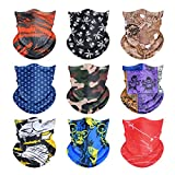 MAJCF Headband Bandana Mask,Summer Face Mask,Sun UV Protection Neck Gaiter Mask Magic Face Cover Scarf,Sport Sweatband Face Protector Balaclava Seamless Anti-Spitting Outdoor for Running,Skiing (9PCS)