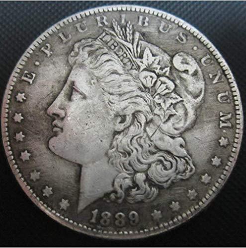 DDTing (1885-1889 U.S. Liberty Antique Morgan Dollars - Great American Coin - Monedas Antiguas de EE. UU. Original Morgan Uncirculated Us Menta Buen Servicio