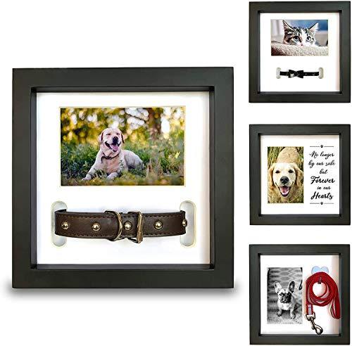 Pet Memorial Bilderrahmen für Hund oder Katze-Verlust - Collar Berg, Memory Hanger oder Liebend Erinnerung Nachricht - Sympathy Andenken-Foto-Geschenk