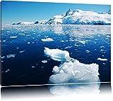 Eisbrocken im Meer Arktis Format: 100x70 auf Leinwand, XXL