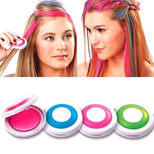 HyPee Haarkreide, Auswaschbare Haarfarbe Kreide Haartönung Für Kinder Haarfärbemittel, Party Und Cosplay Diy Lila Rosa Grün Blau