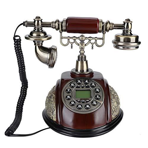 ciciglow Vintage teléfono Fijo Fijo, teléfono Retro de la casa, Pausa de Soporte, rellamada, teléfono Retro, con Alfombrilla Antideslizante, para el hogar, la Oficina, los hoteles