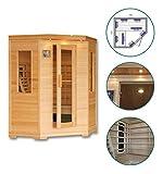 Sauna infrarrojo de esquina Clegane–3–4plazas