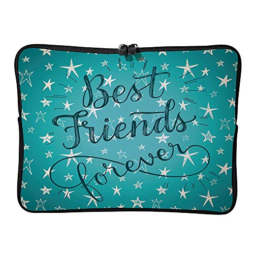 AmaUncle Best ! Hand Drawn Phrase On A Cute Stars Vector Background Laptop Sleeve Case Water-Resistant Protective Cover Portable Computer Carrying Bag Pouch for Laptop SW12762 13 inch/13.3 inch