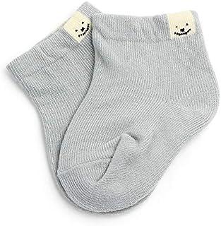 LiuQ, Bebé Calcetines 1 par de otoño del resorte nuevo del algodón sólido del color del caramelo Calcetines del bebé recién nacido de algodón lindo unisex Short calcetín antideslizante infantil del niño del