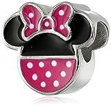 Disney Stainless Steel Minnie Pink Polka Dot Bead Charm