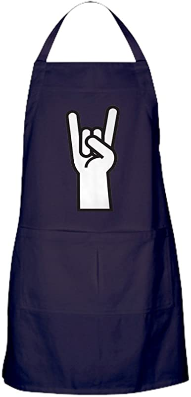 CafePress Heavy Metal Apron Dark Kitchen Apron With Pockets Grilling Apron Baking Apron