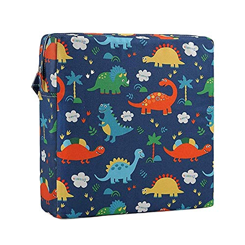 Ceepko Baby Seat Cushion Square, Cozy Booster Seat Cotton Washable Demountable Portable Increasing Anti-Slip Cushion, High Chair Travel Dining Seat Pad for Children Kids Toddlers Boys Girls