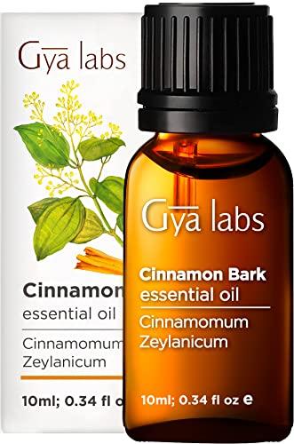 Gya Labs Aceite Esencial de Corteza de Canela para Dolores Musculares - Aceite de Canela Puro para la Salud - 100 Natural Aceites Esenciales para Difusor Aromaterapia - 10ml