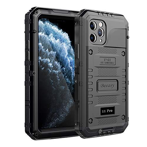Beeasy Cover iPhone 11 PRO Impermeabile, [IP68 Waterproof] Custodia Protettiva Full Body con Protezione dello Schermo, Antiurto AntiGraffio Antineve Anticaduta Robusta Militare Subacquea Case