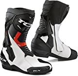STIVALI MOTO TCX 7660 ST-FIGHTER // WATERPROOF (41 EUR - 8 US, WHITE/BLACK)