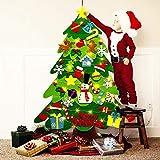 WINDFIRE Albero di Natale in Feltro, Albero di Natale in Feltro per Bambini con 32 Staccab...
