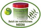 Caniderm-V, Nahrungsergänzung, für Hunde, bei Hautproblemen, Milben, Ekzemen, Allergien (Einzelpackung)