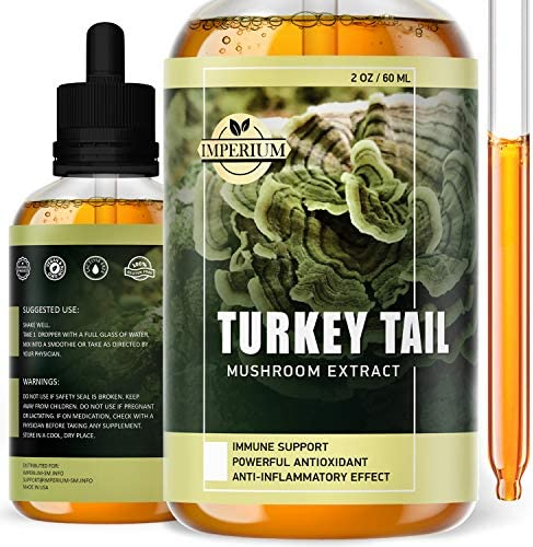 Turkey Tail Mushroom Supplements Comprehensive Immune System Support Mood Improvement Organic product image